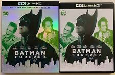 DC BATMAN FOREVER 4K ULTRA HD BLU RAY 2 DISC SET + SLIPCOVER SLEEVE FREE SHIPPIN