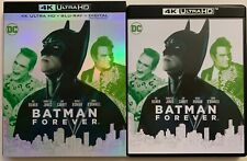 DC BATMAN FOREVER 4K ULTRA HD BLU RAY 2 DISC SET + SLIPCOVER SLEEVE FREE SHIPPIN