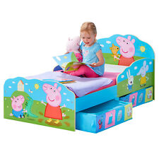 Kinderbett Schubladen Peppa Pig 140x70cm Jugendbett Juniorbett Holz Kinder Bett