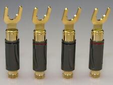 HighEnd-Serie Kabelschuhe 6-8mm vergoldet ( 4 Stück)