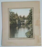 Vintage WR MacAskill Photograph Picture Dartmouth Locks Nova Scotia Hand Tinted