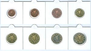 Irland  1 Cent bis 2 Euro Kursmünzenset   (Wählen Sie zwischen: 2002 - 2020)