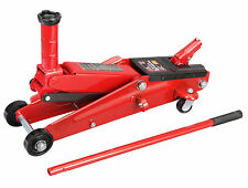 Car Service Floor Jack 3T Capacity Garage Mechanic Tool Red Steel Swivel Wheel