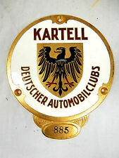 RARA TARGA CARTELLO Deutscher Automobil Club AVD 1918/19, punto 885