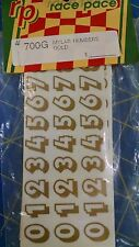 Race Pace 700G Mylar Number Gold Decals from Mid-America Raceway