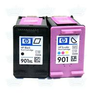 2pk Genuine HP 901XL Black & 901 Color J4580 J4640 J4680 J4550 G510g J4500 J4540