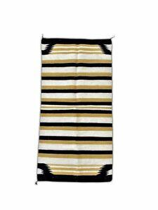 Handwoven Double Wool Navajo Saddle Blanket   60 x 30   Vintage