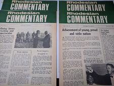 Rhodesia Rhodesian Africa COMMENTARY 1969 Paratroopers Ian Smith 4 News Papers