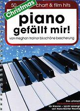 Klavier Noten  Piano gefällt mir CHRISTMAS 50 CHART und FILM HITS Spiralbindung