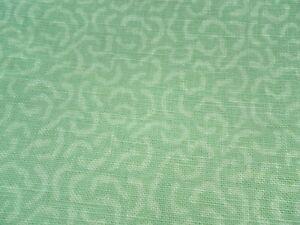 Zoffany Curtain Fabric CORALINO PRINT 3.4m Aqua 100% Linen Design 340cm