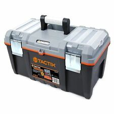 Tactix TOOL BOX w Lift Out Carry Tray, Aluminium Handle to Store Hand Tool 553mm