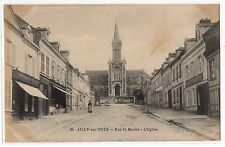 CPA 80 - AILLY SUR NOYE (Somme) - 24. Rue Saint Martin. L'Eglise - Ed. L. Caron