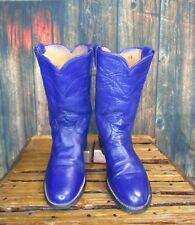 Ladies Purple Leather Justin Roper Western Boots sz: 6.5 C *wide*