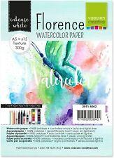 Vaessen Creative Florence Carta per Acquerello A5, Bianco, 300 g/mq, A5
