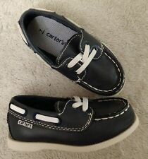 Carters Toddler Boy's Bauk Loafers Boat Shoes Navy Blue Toddle Boy's Size 7