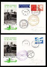 """2x Sonderflug 50 J. Svensk Flygpost """"Eslöf - Marieholm""""  01.06.1962 !!"""