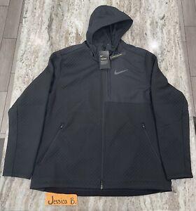 Nike Therma Sphere Max Full Zip Hooded Training Jacket BV3998-011 Black Mens XXL