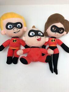 Incredibles 2 Plush Figures Jack Jack Elastigirl & Dash