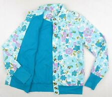 BLUTSGESCHWISTER Womens Multicoloured Floral Cotton Jacket Blue M Blood Brother