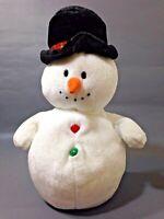 "Ty COOLSTON Snowman Plush Retired Beanie Buddy Bean Bag 2007 Stuffed Animal 10"""