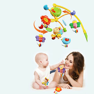 Crib Bed Bell Toy Cot Mobile Music Box Hanging Rattles Nusery Toy Gift