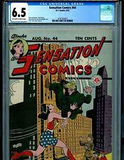 Sensation Comics #44 CGC 6.5 Golden Age Wonder Woman 1945 Amricons K19