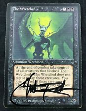MTG Magic The Wretched Legends Rare Signed by Artist Christopher Rush HP