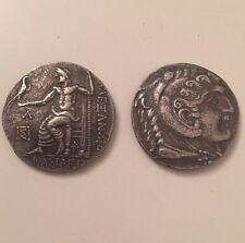 Ancient Greek Coin Herakles Zeus Alexander Great Tetradrachm Museum Quality Repr