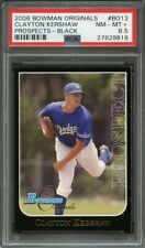 2006 bowman originals prospects black #bo13 CLAYTON KERSHAW rookie card PSA 8.5