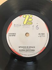 Aural Exciters 45 Spooks In Space ZE Records Ex Radio Stoke