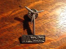 H.B. HB White Canada Lapel Pin - Windmill Solar Energy Construction Pewter Pin