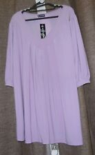 Canto BNWT Plus Size 18-22 Lilac 3/4 Sleeve Jersey V-Neck Top RRP $39.95