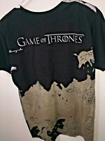 Game Of Thrones Map Mens HBO Licensed T-Shirt Black World Graphics Size M