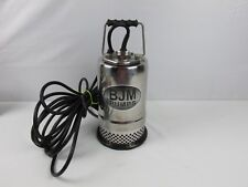 BJM Submersible Pump R Series Model R250 115V 1/3HP 4 Amp Phase 1 Works Great