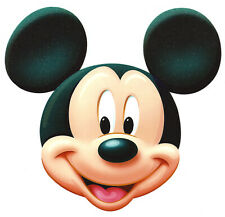 "7X7"" Disney Mickey Mouse glitter large IRON On TRANSFER Heat Vinyl smiley face"