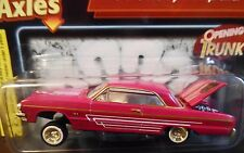 REVELL 64 1964 CHEVY IMPALA LOWRIDER DETAILED CHEVROLET COLLECTIBLE CAR HOT PINK