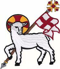 GIANT Agnus Dei αμνος του θεου Lamb of God Christian SCA Embroidered Patch