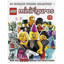 NEW LEGO Minifigures Ultimate Sticker Collection Book Series 1-7 1000+ Reusable