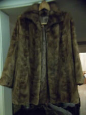 MINK COAT, BROWN VINTAGE, XCLNT CONDITN , KNEE LENGTH, CUSTOM MADE-J. GALISTINO