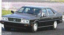 Maserati QUATTROPORTE SPEC SHEET/ Brochure:1983,1984,