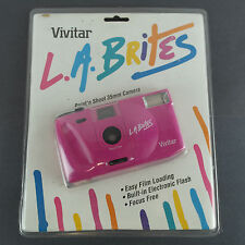 1991 Nos Vivitar L.A. Brites Point 'n Shoot 35mm Magenta Camera Vtg 90's