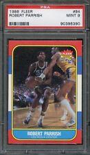 1986 Fleer #84 Robert Parrish PSA 9 Celtics