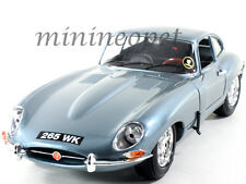 BBURAGO 18-12044 1961 61 JAGUAR E TYPE COUPE 1/18 DIECAST MODEL CAR LIGHT BLUE
