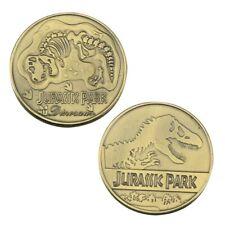 Unusual JURASSIC PARK Dinosaur Bronze Plated Coin . In Capsule