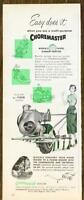 1954 Choremaster Multi-Purpose Garden Tractor PRINT AD Easy Does It