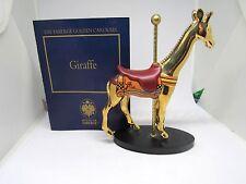 Rare Franklin Mint Faberge 24K Golden Carousel Figure w/ Coa Gorgeous Giraffe