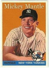 MICKEY MANTLE 1958 style VERY COOL CUSTOM CARD