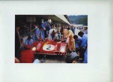 Arturo Merzario Ferrari 312 PB ASPERN 1000 KM 'S 1973 firmato fotografia 1