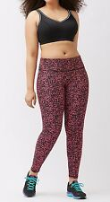 NWT Lane Bryant Plus Size 26 28 4X Pink Graphic Print Leggings Livi Activewear