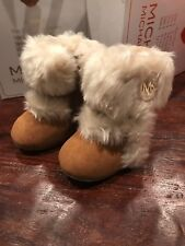Michael Kors Baby Grace Boots Booties New Tan Girls 6 Weeks -  3 Months Size 1